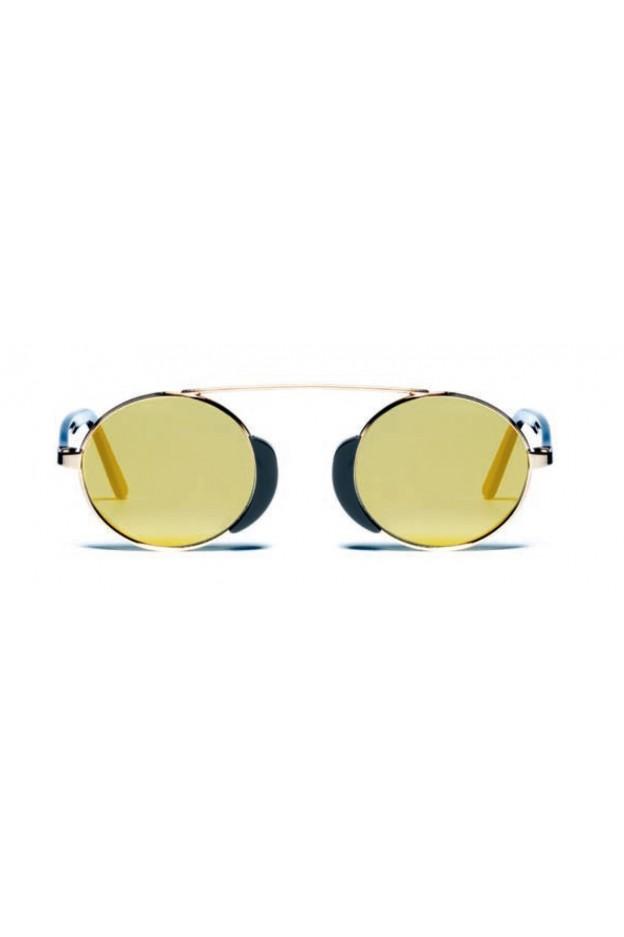 L.G.R. Occhiali Togo Black 03 / Flat Gold Mirror