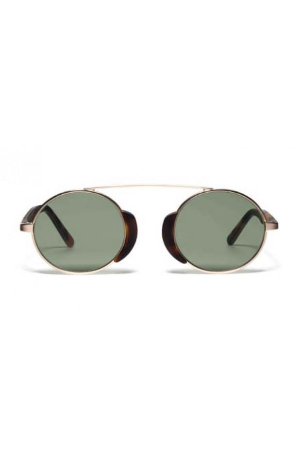 L.G.R. Togo Sunblasses Havana Maculato Matt 39 / Flat Green G15