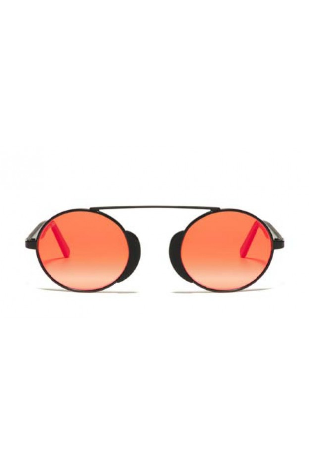 L.G.R. Togo Sunblasses Black Matt 22 / Flat Red Mirror New Collection 2018