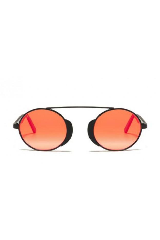 L.G.R. Togo Sunblasses Black Matt 22 / Flat Red Mirror