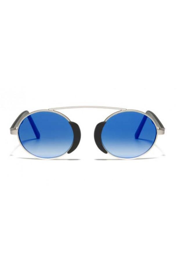 L.G.R. Togo Sunblasses Silver Matt 00 / Flat Blue Mirror