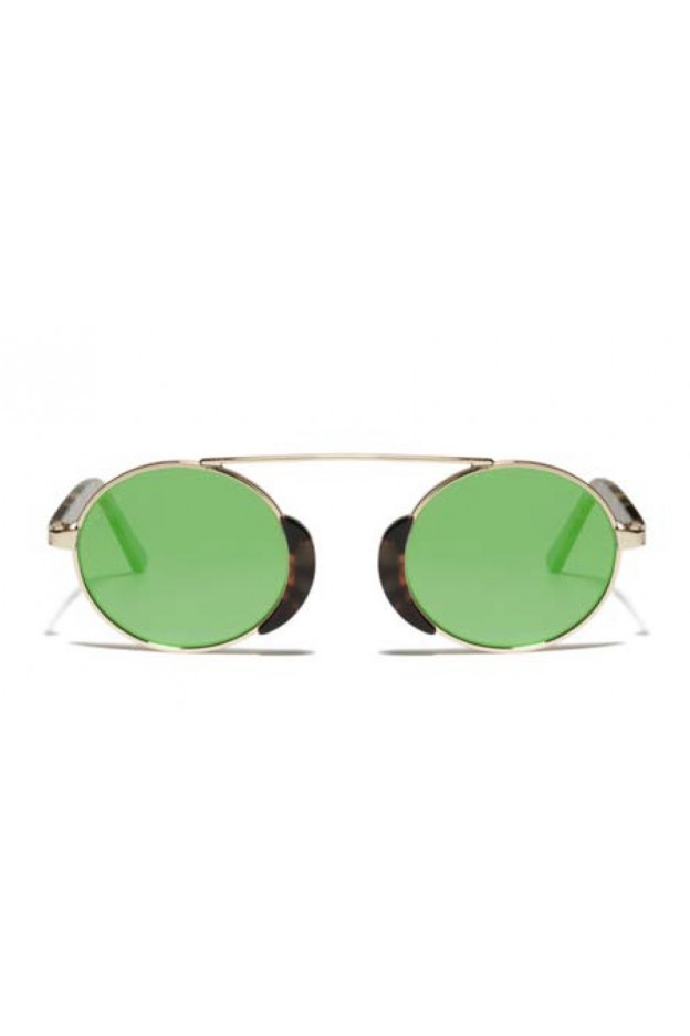 L.G.R. Occhiali Togo Havana Tartarugato 39 / Flat Green Mirror Nuova Collezione 2018