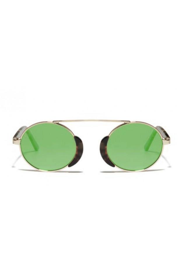 L.G.R. Togo Sunblasses Havana Tartarugato 39 / Flat Green Mirror