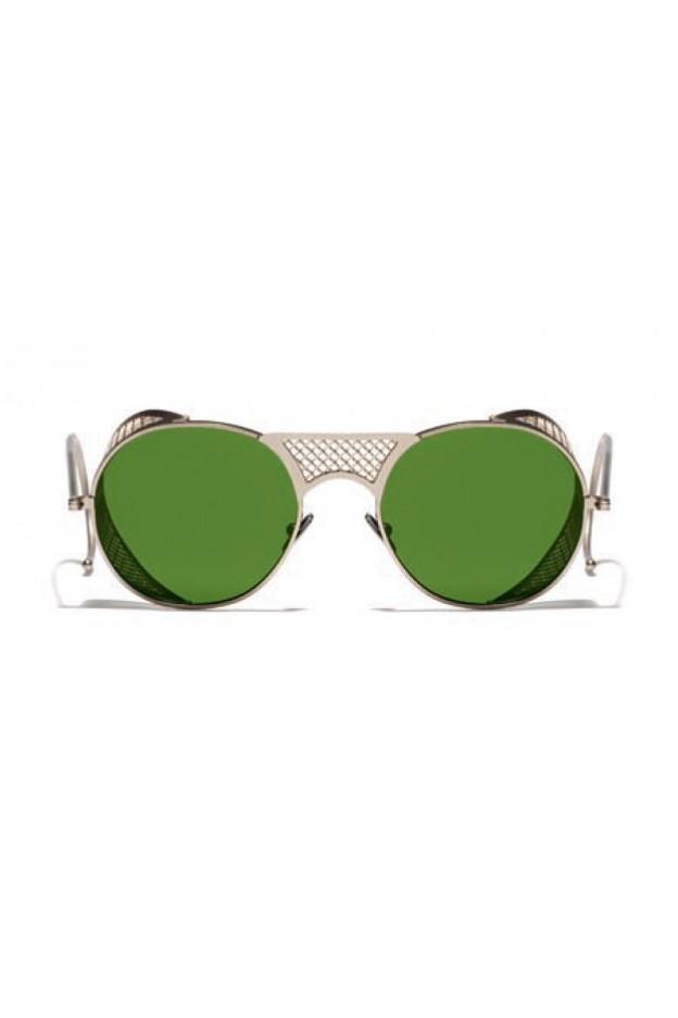 L.G.R. Lawrence Sunblasses Gold Matt 02 / Flat Green Vintage