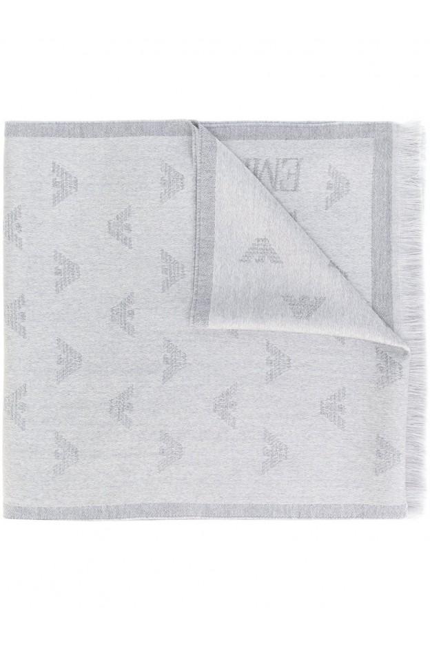 Emporio Armani jacquard logo scarf 6250097A306- Nuova collezione 2018