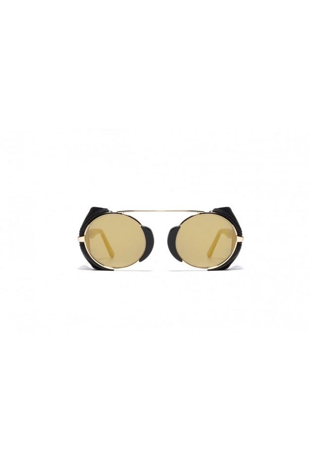 L.G.R TOGO FLAP Black 01 / Black Flap // Flat Gold Mirror