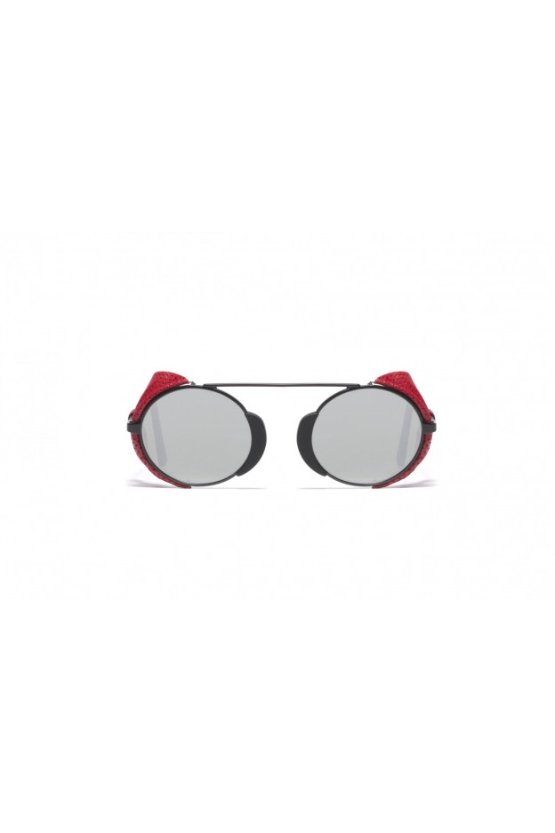 L.G.R TOGO FLAP Black Matt 22 / Red Flap // Flat Silver Mirror 2640 - New Collection 2018