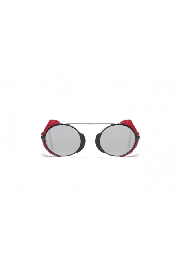 L.G.R TOGO FLAP Black Matt 22 / Red Flap // Flat Silver Mirror