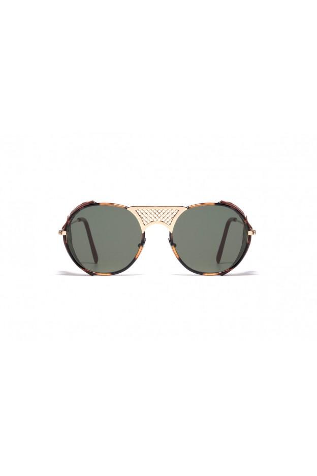L.G.R LAWRENCE FLAP Gold / Havana / Brown Flap 05 // Flat Green G15
