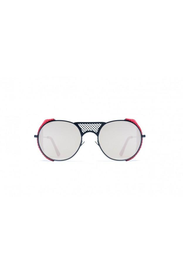 L.G.R LAWRENCE FLAP Black Matt 22 / Red // Flat Silver Mirror