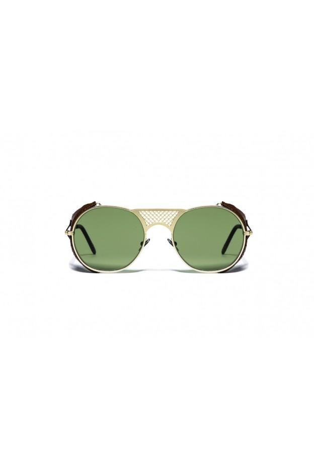 L.G.R LAWRENCE FLAP Gold Matt 02 / Brown // Flat Green G15