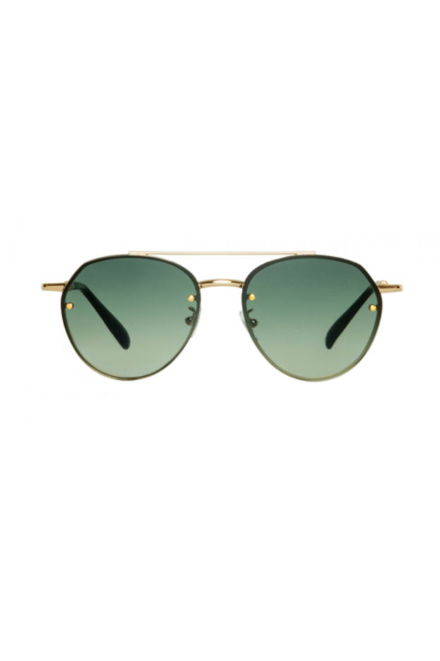 Spektre SORPASSO Gold Glossy / Gradient Green – Flat Lenses