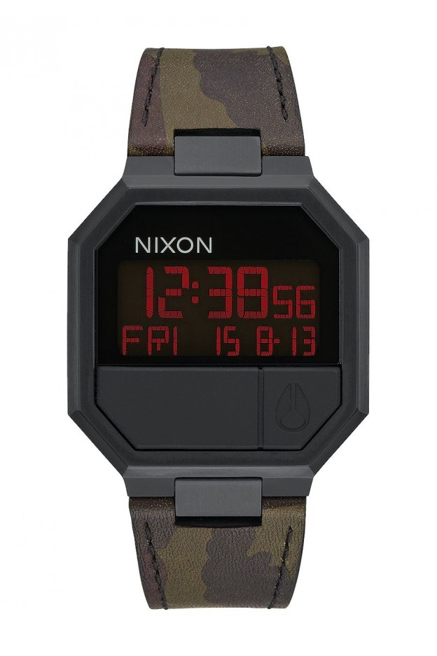 Nixon Re-Run Leather , 38 Mm Black / Brass A944-2255-00 - New Collection 2018