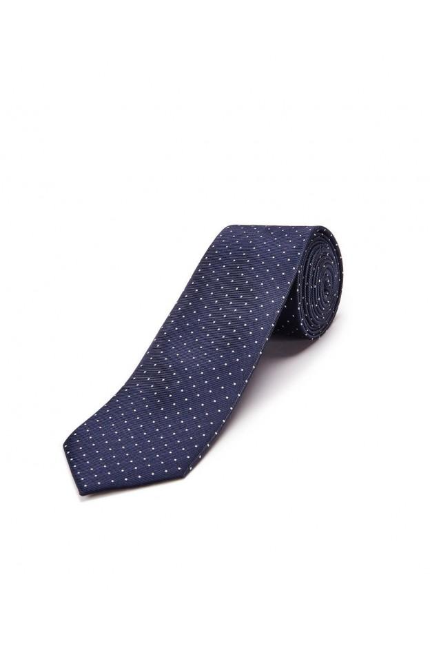 Lanvin Paris Cravatta Blu A Pois RMAC 1309T7 A1710 - Nuova Collezione Primavera Estate 2018