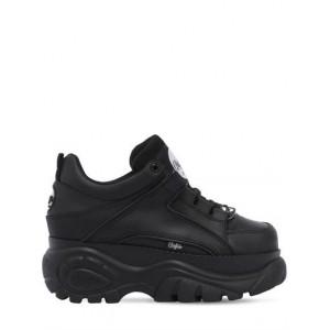 """Buffalo London Sneakers """"Buffalo Classic"""" In Pelle 60Mm 67I WMW002 Nero - Nuova Collezione Autunno Inverno 2019 - 2020"""