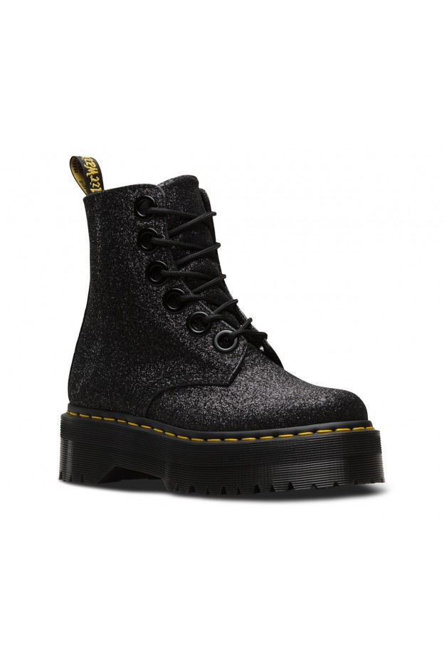 Dr. Martens Molly Glitter Black Woman DMSMOLLYGLBK243310 - New Collection Fall Winter 2018 2019