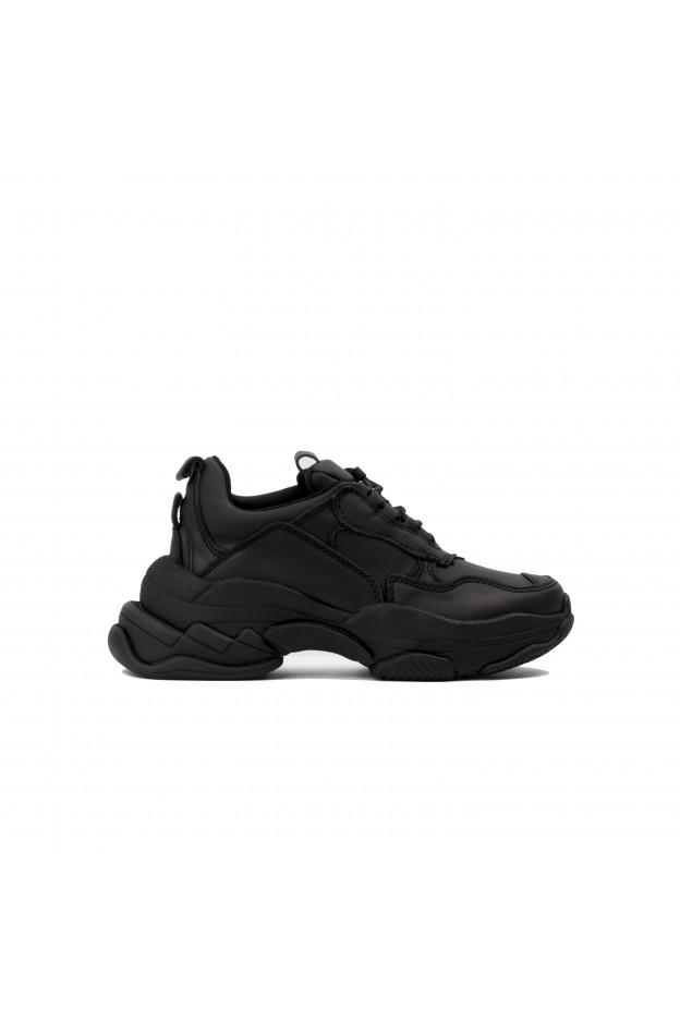Jeffrey Campbell  Sneaker Lo Fi Pelle Nera Opaca JCS40JC101LEA-BLK Nuova Collezione Autunno Inverno 2018 2019