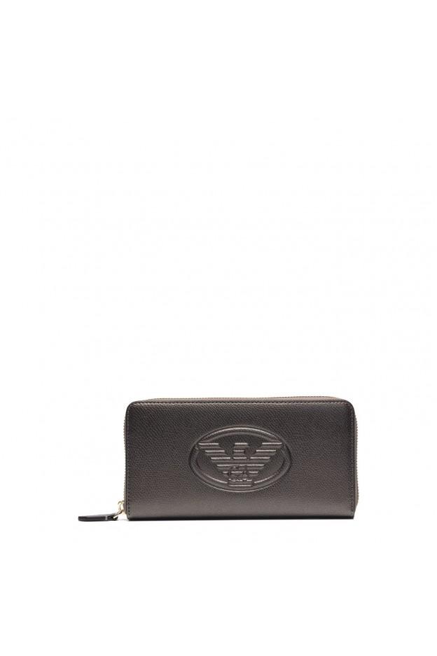 Emporio Armani Steel Zip Wallet Y3H114 YH18A 80233 Black - New Collection Fall Winter 2018 2019