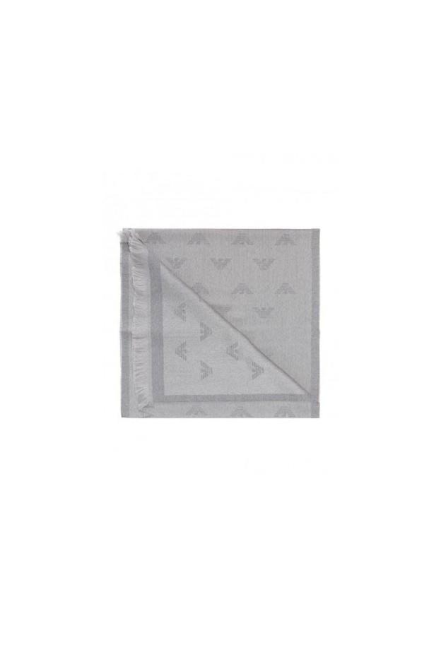 Emporio Armani Sciarpa Con Logo Ricamato 625009 8P306 15044 Grigio - Nuova Collezione Autunno 2018 2019