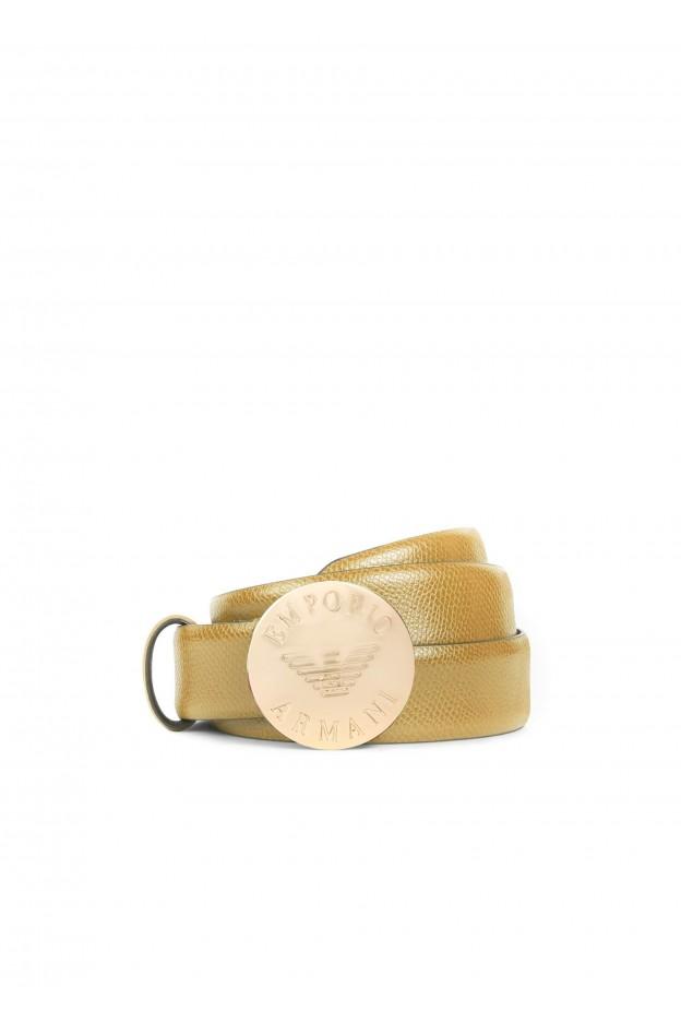Emporio Armani Cintura In Similpelle Con Fibbia Logata YEI153 YH31A 80064 Oro - Nuova Collezione Autunno Inverno 2018 2019