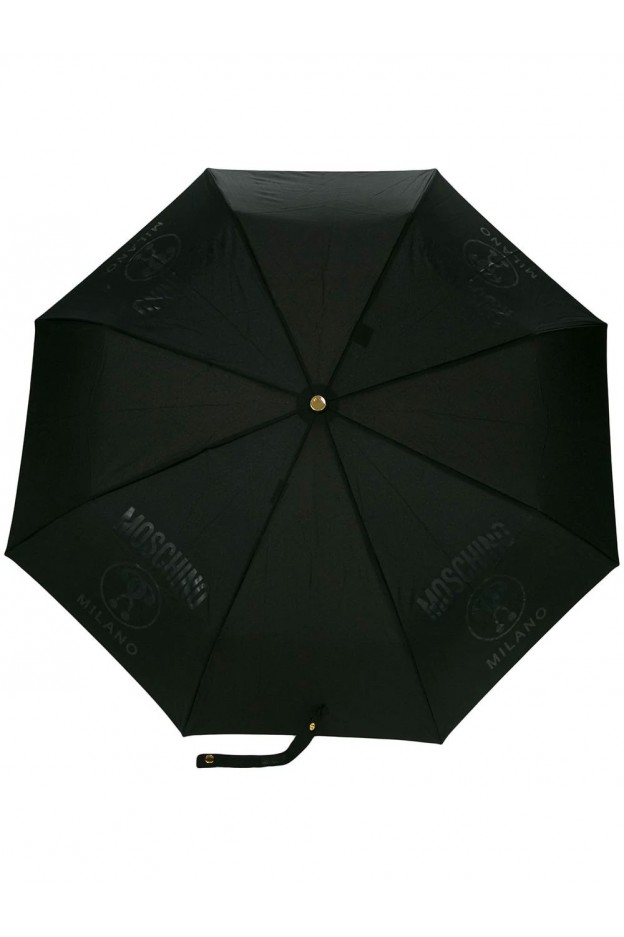 Moschino Umbrella With Logo 8010 Black - New Collection Fall Winter 2019