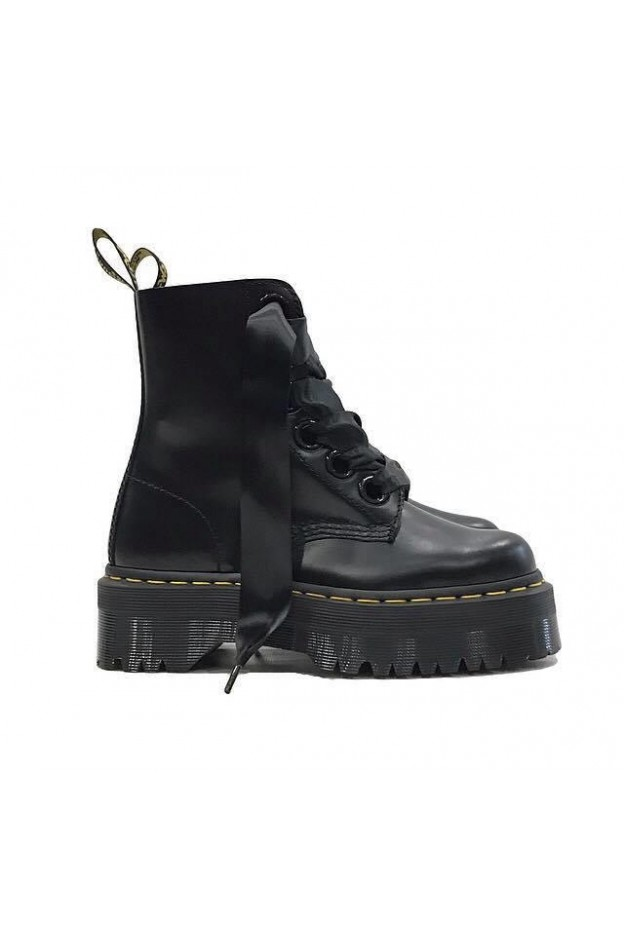 Dr. Martens Platform Molly Black Buttero Woman DMSMOLLYBKBU24861001 - New Spring Summer 2019 collection