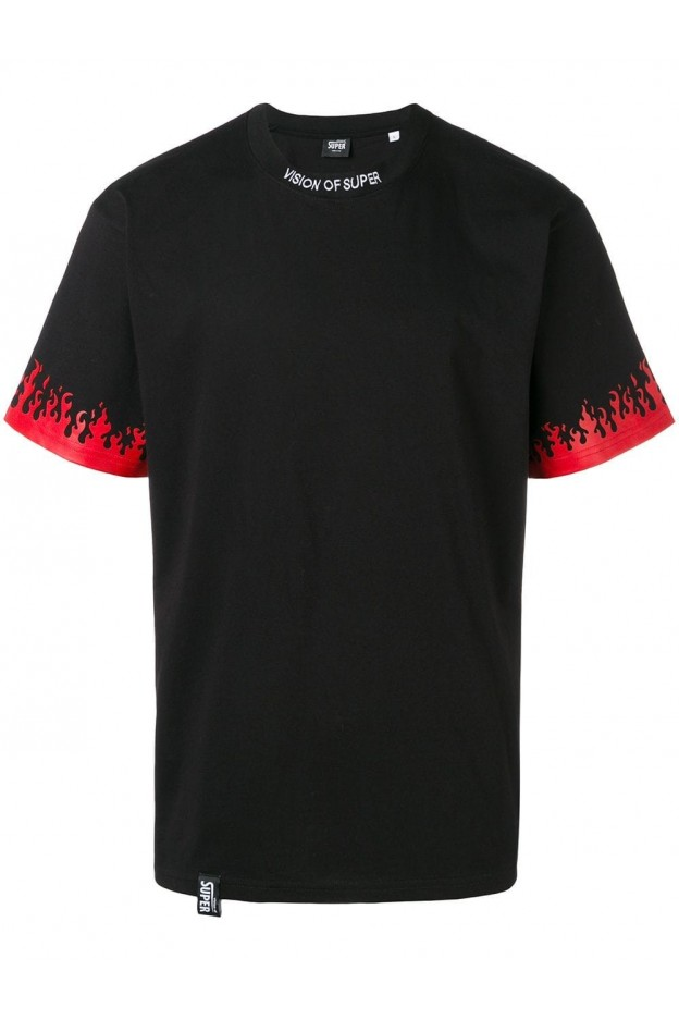 Vision of super fire printed T-shirt Black VOSLTD2NR 000 - New Season Fall Winter 2019 - 2020