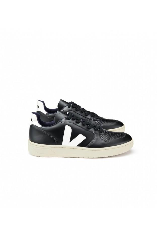 Veja V-10 Leather Black White - New Season Spring Summer 2019