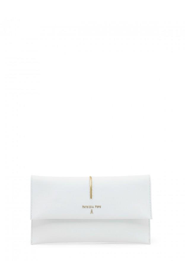 Patrizia Pepe Leather pochette bag 2V5460 A2OI W146 White - New Season Spring Summer 2019