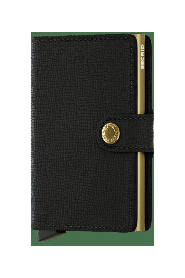 Secrid Miniwallet Crisple Black-Gold - Nuova Collezione Primavera Estate 2019
