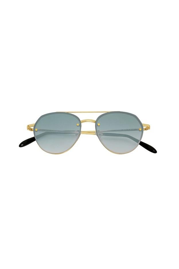 Spektre Sorpasso Gold Glossy / Gradient Silver – Flat Lenses SP01BFT