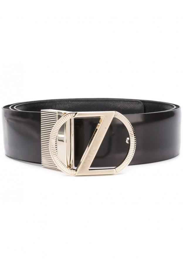Z Zegna Cintura con fibbia BVARE1980C Black - Nuova Collezione Primavera Estate 2019