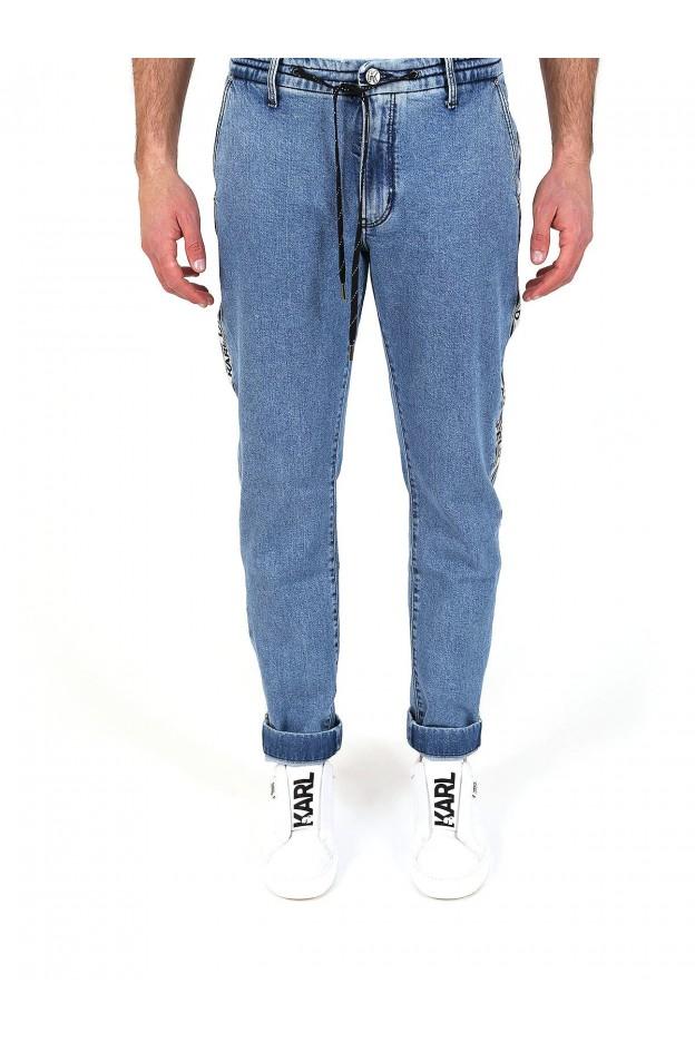 Karl Lagerfeld Jeans con nastro logato KLMP0004 BKL 08769 Denim - Nuova Collezione Primavera Estate 2019
