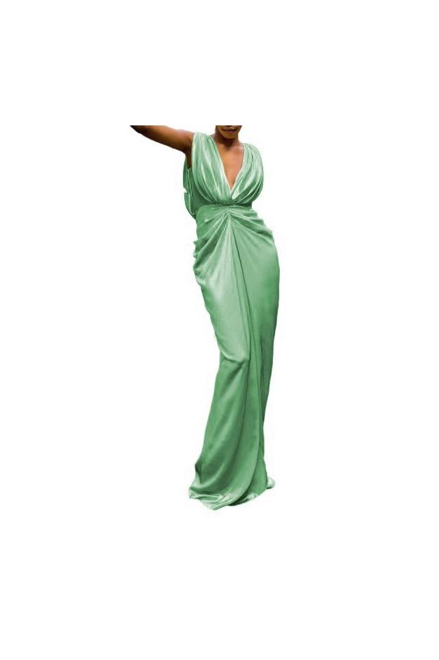 Rhea Costa Long Sleeveless Glowing Goddess Dress 19064D LG Light Green - New Season Spring Summer 2019