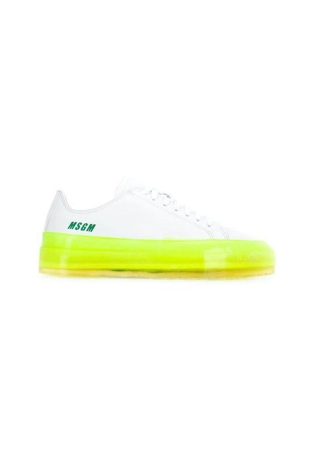 MSGM Sneakers con suola a contrasto 2640MS726160 01 White - Nuova collezione Primavera Estate 2019