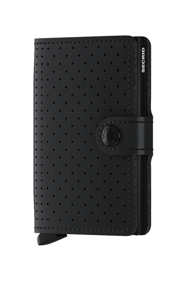Secrid Miniwallet Perforated Black - New Season Spring Summer 2019