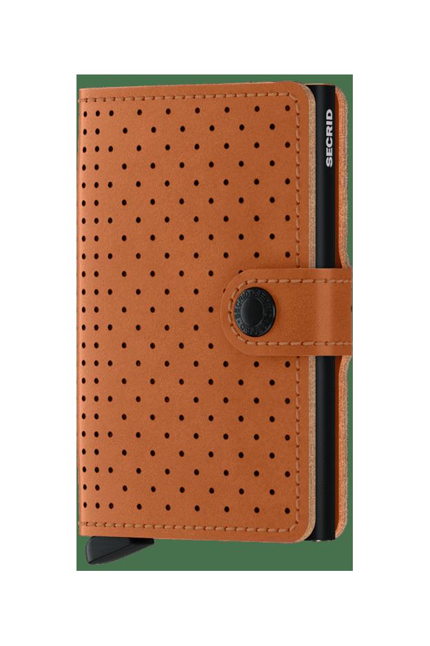 Secrid Miniwallet Perforated Cognac MPF-COGNAC - Nuova collezione Primavera Estate 2019