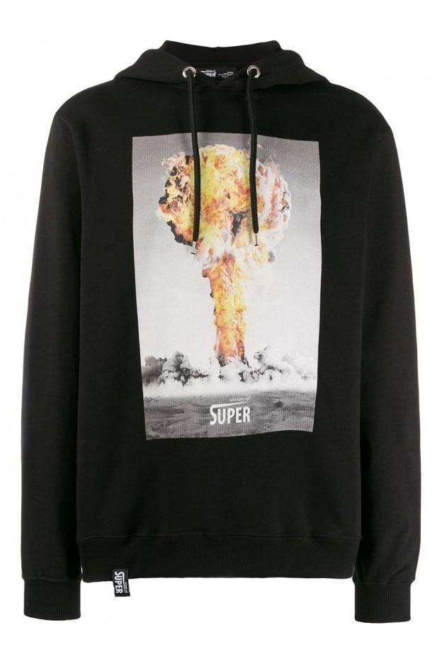 Versace Collection textured logo sweatshirt