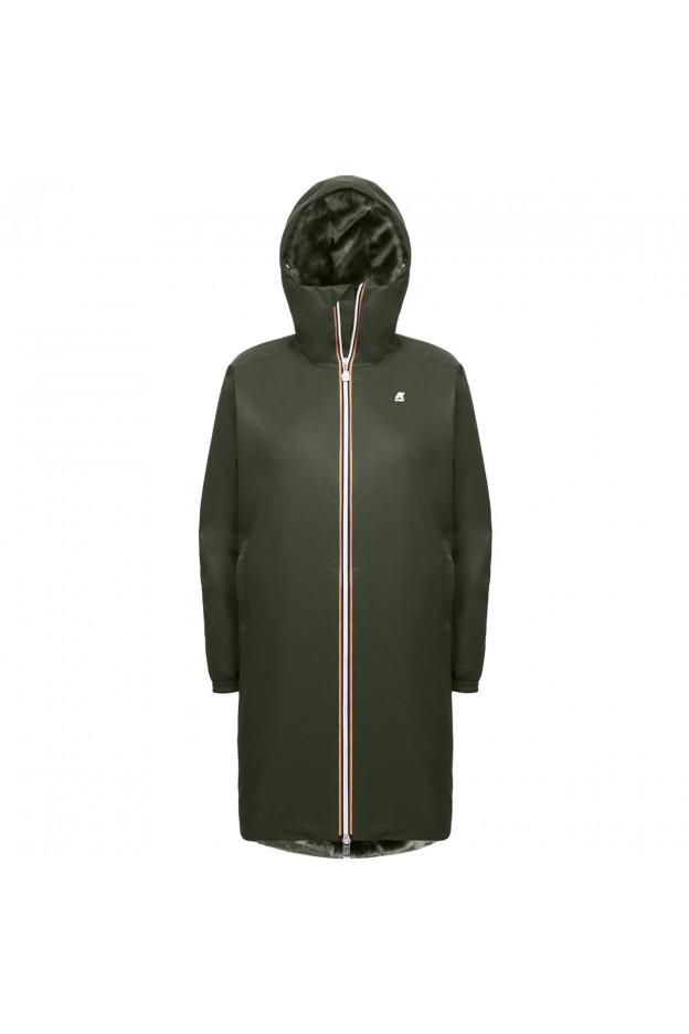 K-Way Clelie Nylon Fur K009N30 576 Green - Nuova Collezione Autunno Inverno 2019 - 2020