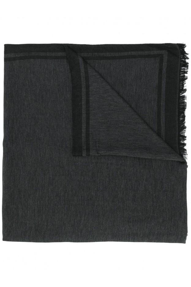 Emporio Armani logo scarf 625252 9A355 Black - New Collection Autumn Winter 2019 - 2020