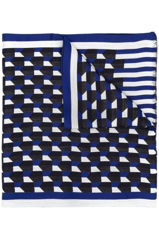 Emporio Armani logo scarf 625063 9A389 Blue - New Collection Autumn Winter 2019 - 2020