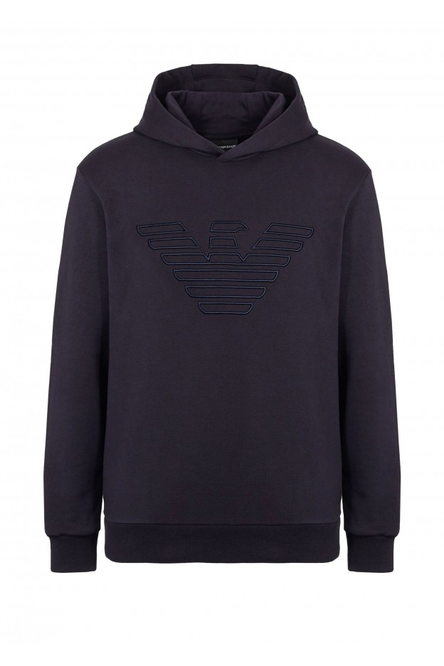 Emporio Armani Hoodie 6G1MB6 1J36Z 10922 Blue - New Collection Autumn Winter 2019 - 2020