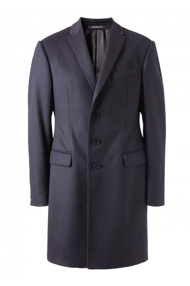 Emporio Armani Coat 11LMA0 11917 1926 Night Blue - New Collection Autumn Winter 2019 - 2020