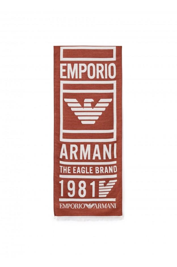 Emporio Armani Sciarpa 625052 9A3521 03665 Brown - Nuova Collezione Autunno Inverno 2019 - 2020
