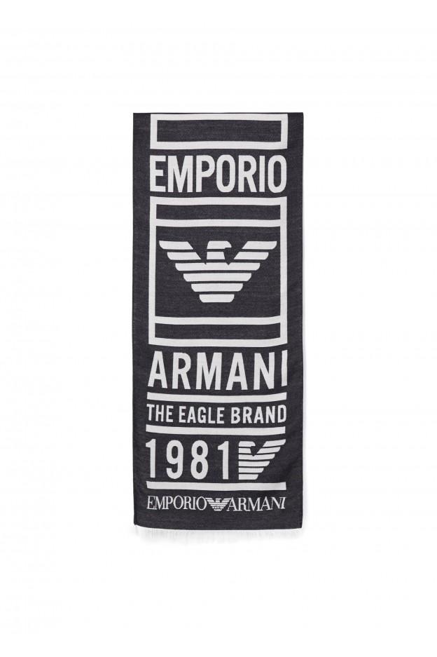 Emporio Armani Sciarpa 625052 9A3521 00236 Night Blue - Nuova Collezione Autunno Inverno 2019 - 2020