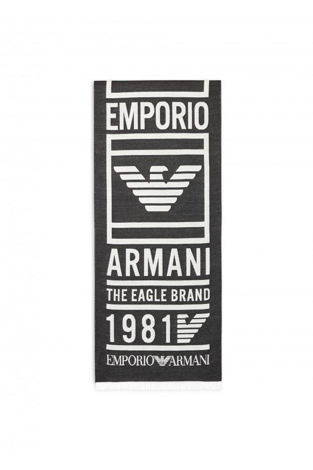Emporio Armani Sciarpa 625052 9A3521 00020 Black - Nuova Collezione Autunno Inverno 2019 - 2020