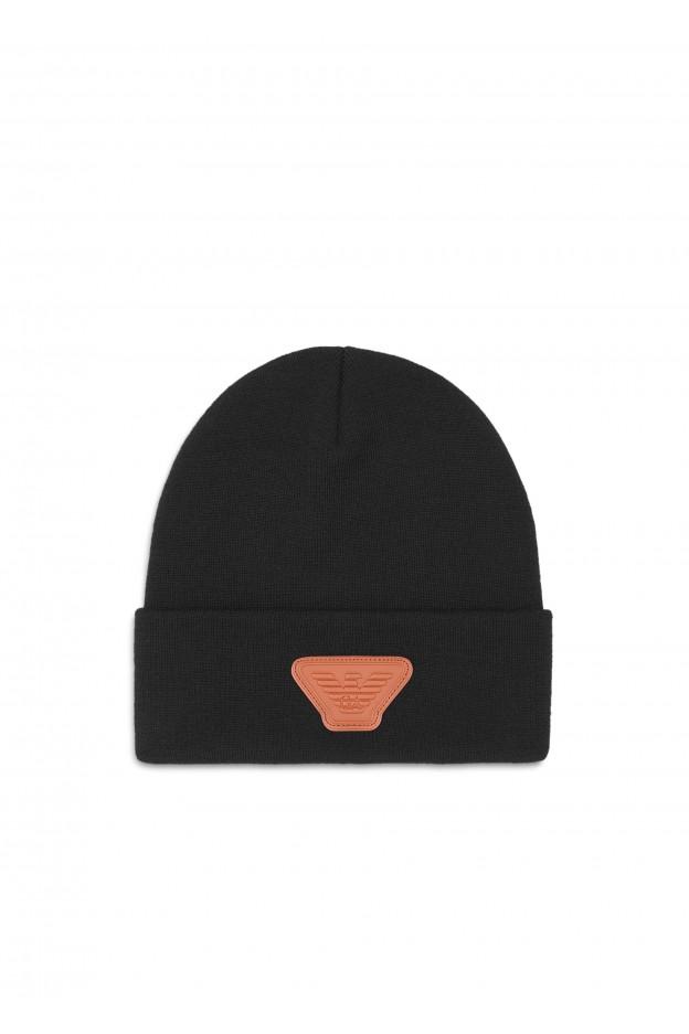 Emporio Armani Cappello 8N1460 1MB4Z 10999 Black - Nuova Collezione Autunno Inverno 2019 - 2020