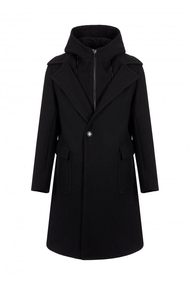 Emporio Armani Coat 6G1LP2 1NIPZ 10999 Black - New Collection Autumn Winter 2019 - 2020