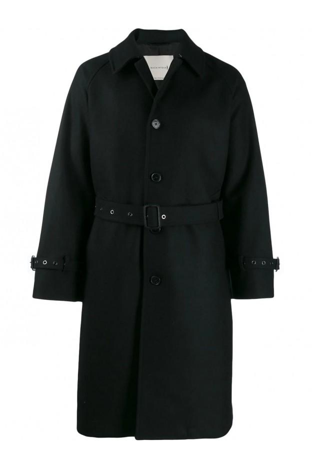 Mackintosh Whitburn GM-1015F Cappotto con cintura MOP5125 MO3721 Nero - Nuova Collezione Autunno Inverno 2019 - 2020