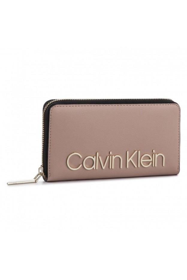Calvin Klein Portafoglio K60K605468 646 Pink - Nuova Collezione Autunno Inverno 2019 - 2020